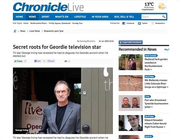 George Irving Interview - The Chronicle